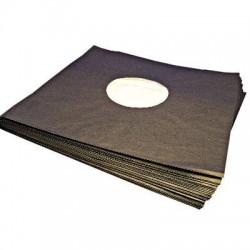 LP-sisäpussi, pehmustettu, MUSTA - 100 kpl